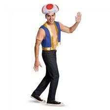 Disguise Super Mario Bros Toad Kit Luigi Adult Mens Halloween Costume 85229AD