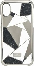 Swarovski Heroism Case for Apple iPhone X - Black/Gold/Clear - No Box Vg