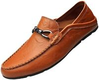 Boleone Men's Casual Slip-on Loafer Driving Shoe, B-brown, Size 10.5 bjBB