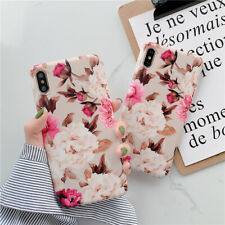 Soft Vintage Floral Rose phone Case Cover For iPhone 11 pro max XS MAX 8 Plus