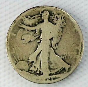 1921-P Philadelphia Walking Liberty Half Dollar 50c Old US 90% Silver Coin g350