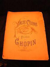 Partition Valse célèbre pour piano de Chopin Music Sheet