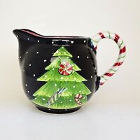 Laurie Gates Ware Creamer Christmas Tree Peppermints Candy Cane Handle