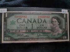 1967 $1 Dollar Canadian Note, EF, F/P9022842, Plastic Holder