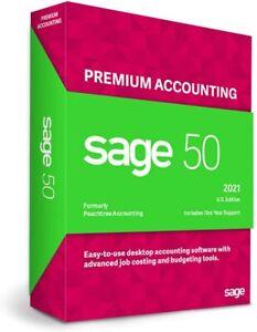 Sage 50 Premium Accounting 2021 U.S. 1 User Small Business Accounting - NEW
