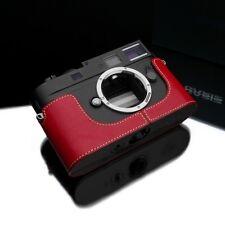New GARIZ Genuine Black Label Leica M9 Half Case Red For LEICA M9 M8 & M momo