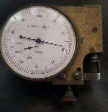 ANTIQUE EARLY BRASS MICROMETER 1 DEG = 1/1000 C. DEPTH GAUGE