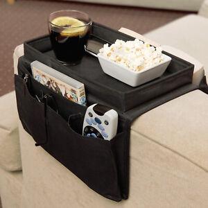 6 Pocket Sofa Armrest Organiser   Anti-Slip Remote Control Holder Couch Caddy