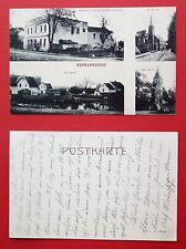 AK HERMANNSDORF bei Breslau um 1915 Bäckerei Paul Pallesche, Kirche  ( 32590