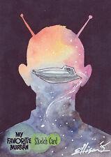 My Favorite Martian Sketch Card SK1 By Danielle Ellison