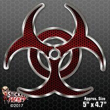 """Biohazard """"RED HEX"""" Decal Vinyl Bumper Sticker car truck window zombie #FS982"""