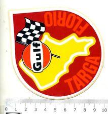 GULF TARGA FLORIO  RALLY  Adesivo Stichers originale anni '70