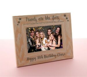 Personalised Engraved Wooden Photo Frame Birthday Mum 18th 21st 30th 40th Gift