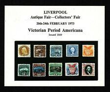 Opc 1973 Gb Liverpool Antique Fair Mini Souvenir Sheet Mnh 39349