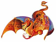 Ravensburger COLLECTION SILHOUETTE: Shaped FIRE DRAGON 1000 956 Pc Jigsaw Puzzle