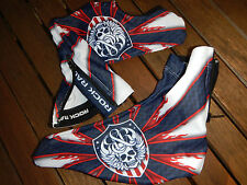 Original Rock Racing campeón estados unidos Shoe cover White Blue red talla S/M Top New