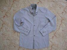 New Smart NEXT SPITALFIELDS SHIRT & CO Boys Grey/Pink Formal Shirt age 12 yrs