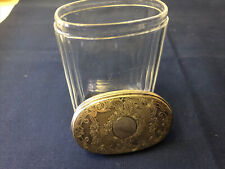Victorian Crystal Vanity Jar with Marked Sterling Lid Circa 1870s