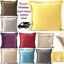 """Soft Luxury Dutch Velvet Plain Design Sham Cover Scatter Cushion Covers 18x18"""""""