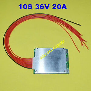 BMS PCB for 36V 10S 20A Li-ion Lipolymer Battery with same charge/discharge port