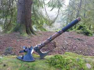 Beautiful Carbon Steel Viking Axes Outdoor Hunting Camping Axe Fathers Day Gift