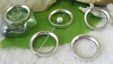 20pcs Tibetan silver circle bead frame spacers FC9282