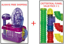 CRITTERTRAIL DAZZLE CAGE & FUNNEL KIT FOR HAMSTERS & GERBILS $67.00 VALUE