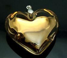 Handmade Heart Glass Art Beaded Pendant Black Cord  Necklace p0205