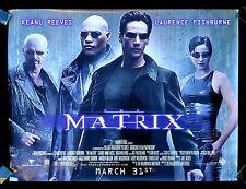 THE MATRIX * CineMasterpieces RARE SUBWAY SCI FI ORIGINAL MOVIE POSTER 1999