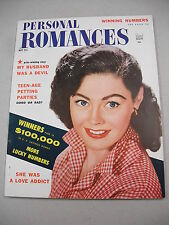 "GREAT COPY! ""PERSONAL ROMANCES"" 5/54 `TEEN-AGE PETTING PARTIES`! LURID EXPOSES!"