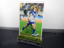 ✺Signed✺ TRENT HODKINSON Photo & Frame PROOF COA Canterbury Bulldogs 2018 Jersey