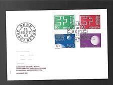 SWITZERLAND 1963 FDC #430/33, SWISS NATIONAL EXHIBITION, LAUSANNE !!