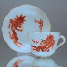 Meissen: Mokkatasse Ming Drache, Korall Rot, Orange, Espressotasse, Drachen, cup