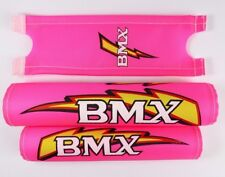 "BMX Old School Retro handle bar frame foam Crash Pad Set Pink for 20"" bike 3453"