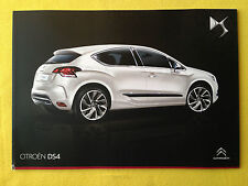 Citroen DS4 official paper brochure sales catalogue February 2014 DS 4