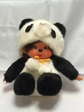 Sekiguchi Monchhichi 6inch Plush Doll Sitting Animal Dress Panda From Japan