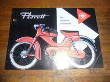 Prospekt Sales Brochure Kreidler Florett Vollmotorrad Moped Bike Roller Scooter