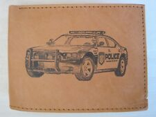 Mens Leather RFID Wallet-POLICE PATROL/ PURSUIT CAR *Great Birthday Gift*