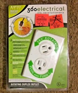 New Sealed 360 Electrical Rotating Duplex Outlet 36010-W
