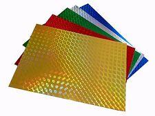 hologramme feuilles cartonnées,brillant env. 240GR A4/10 feuilles,de couleur