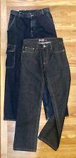 Wrangler Boys Denim Jeans Size 16 lot of 2 NWT Cargo