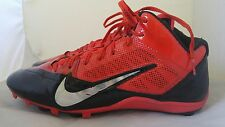 Mens Nike Alpha Pro Football Cleats Size: 13.5 Color: Red Black
