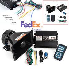 12V 400W 8 Sound Car Alarm Police Fire Warning Siren Speaker Wireless Amplifier