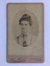 Victorian Carte De Visite CDV Photo: Lady: John Hawke: Plymouth