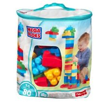New Blue Mega Bloks 80 Pcs Bag Set Assorted Boy Toy Fun Building Block Model