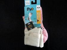 Mi-Chaussettes THYO Trek Dry Revers Beige et Rose Coolmax T36/38