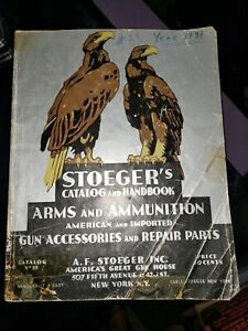 1934 Stoeger Gun Catalog American & Import Arms Ammunition Luger Mauser Ithaca++