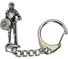 Medievil Heraldic Knight FigurE Crafted from Solid Pewter In UK Key Ring (WA)