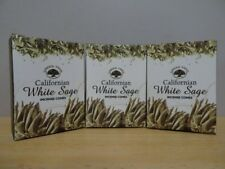 Californian White Sage  3 Packs x 10 Premium Masala Incense Cones Free Post AU