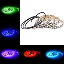 US 60LED 1M RGB LED TV Strip Light SMD5050 USB Cable LED Background Lighting Kit